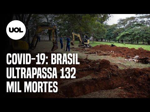 Brasil registra 381 mortes por covid-19 em 24 horas; total passa de 132 mil